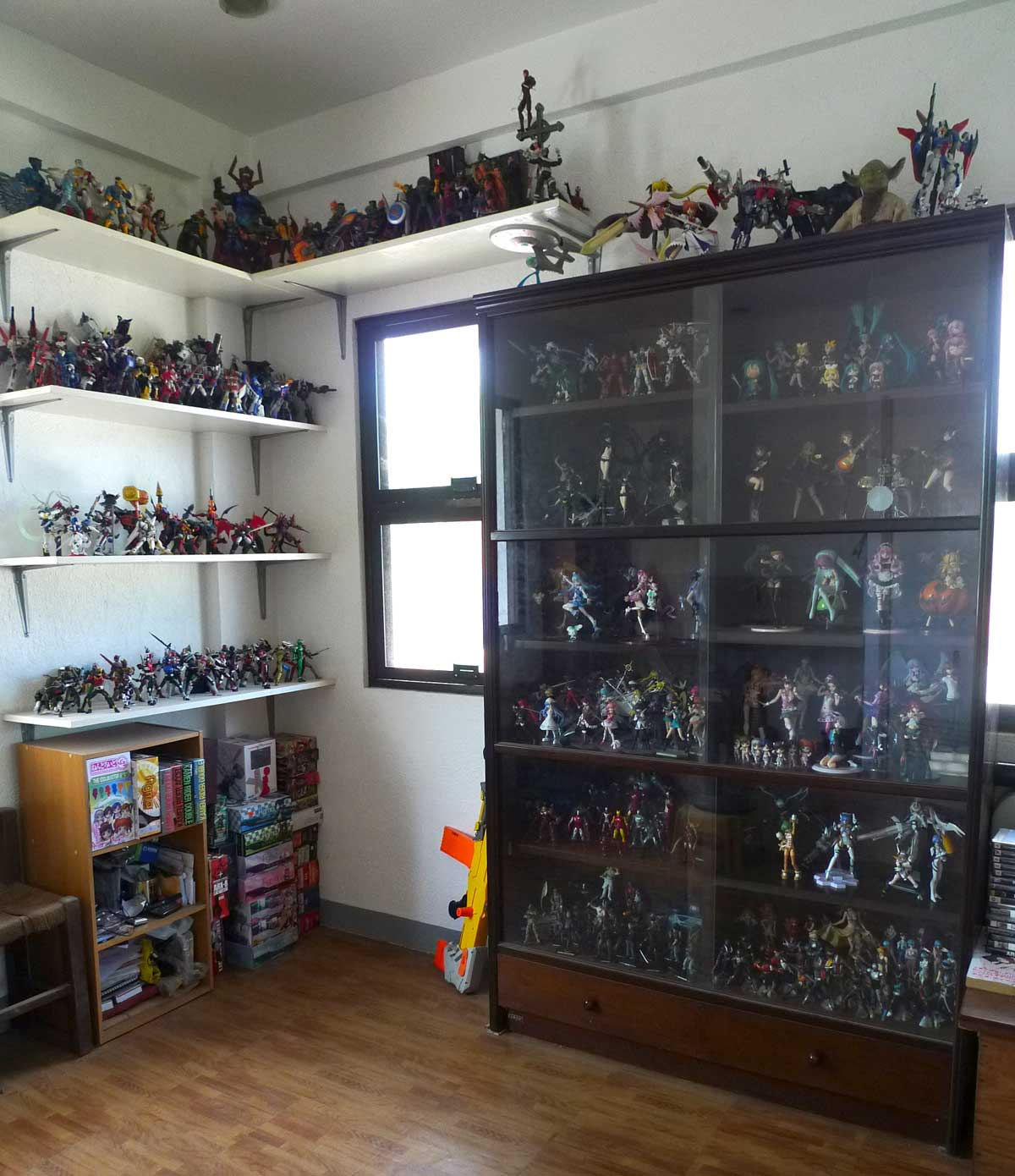 The Wall Shelves And The Main Display Cabinet